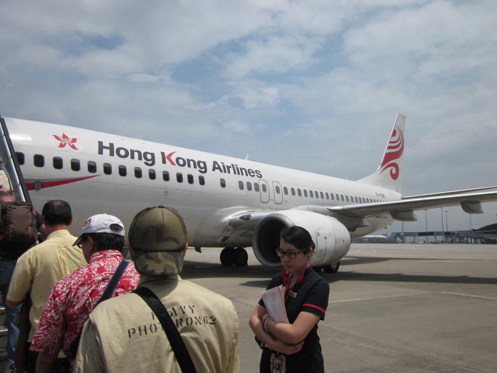 Вылет рейса Гонконг-Токио авиакомпании HongKong Airlines