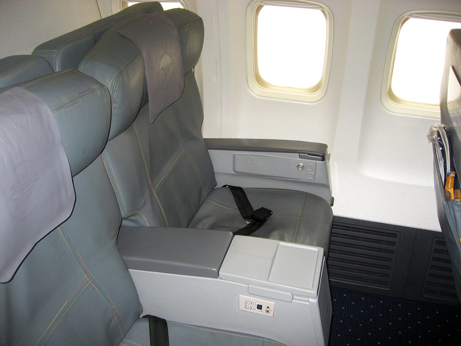 Business class seats of MIAT Boeing 737-800