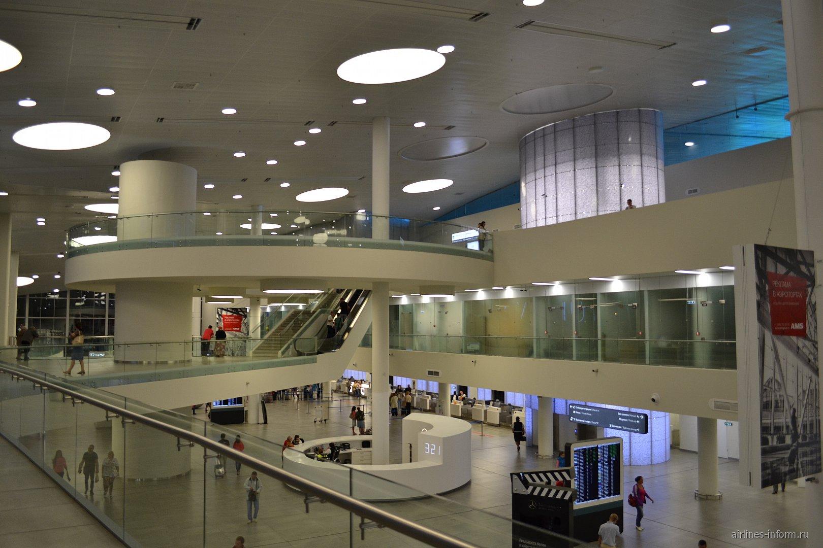 В пассажирском терминале аэропорта Самара Курумоч