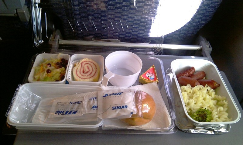 Meal on the UTair flight Krasnoyarsk-Ekaterinburg