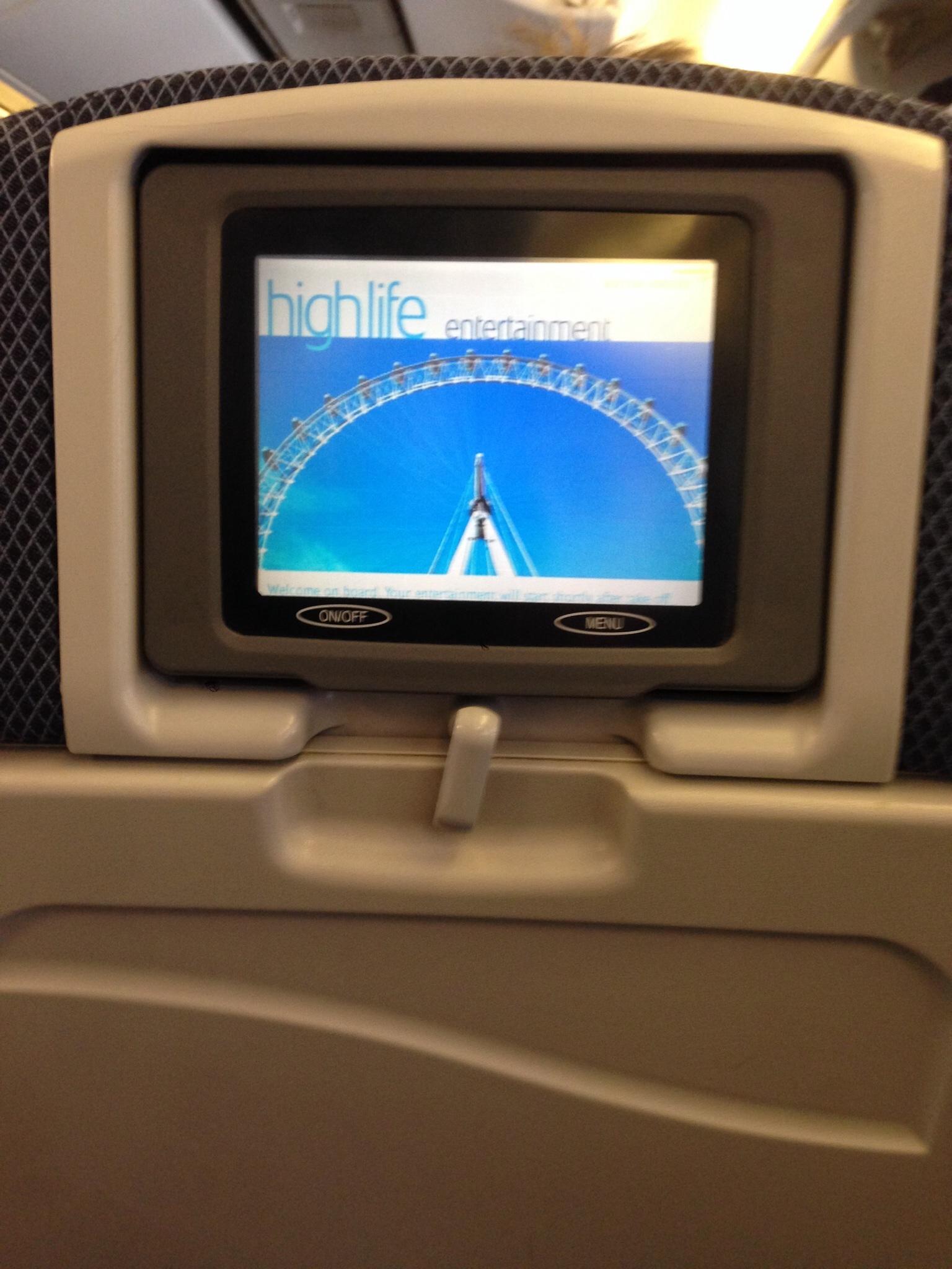 Система развлечений в самолете Боинг-767-300 Британских авиалиний