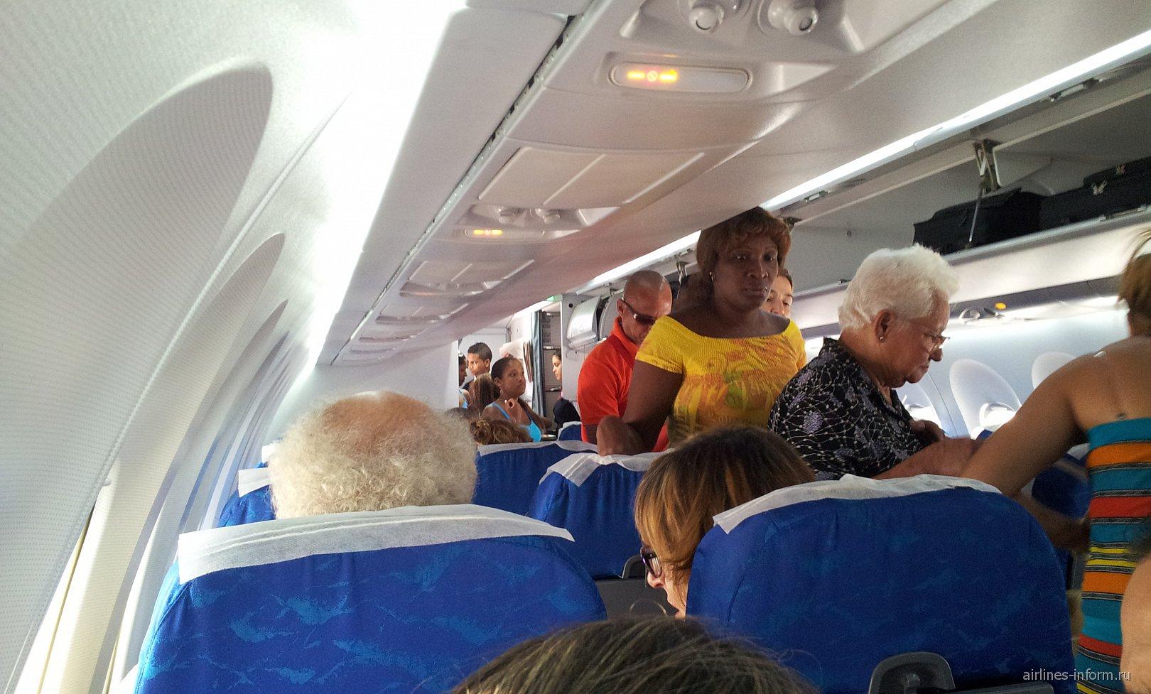 Салон самолета Ан-158 авиакомпании Кубана
