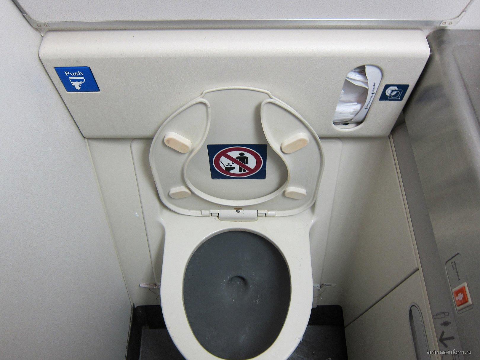 Туалет в в Боинге-767-300 авиакомпании Дельта