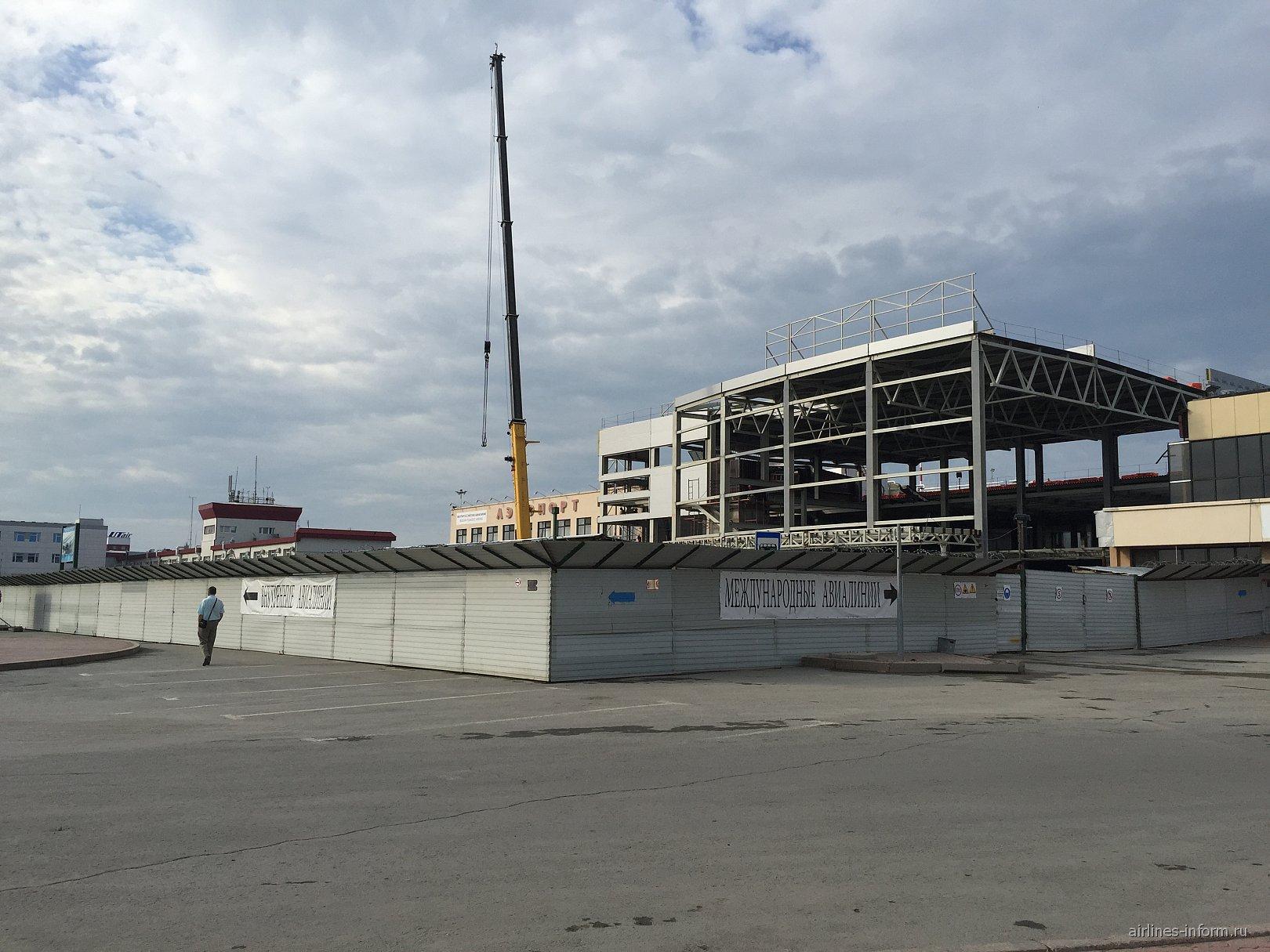 Строительство нового пассажирского терминала в аэропорту Тюмень Рощино