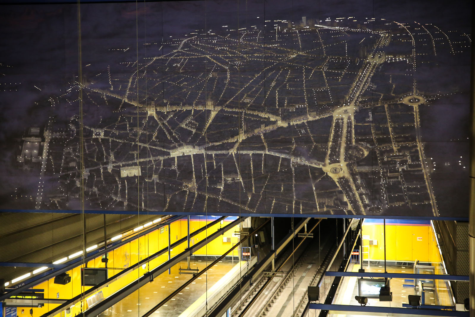 Станция метро в аэропорту Барахас в Мадриде