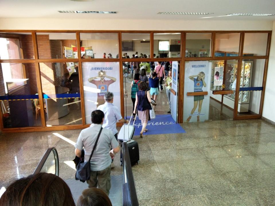 Зал выдачи багажа аэропорта Пуэрто-Игуасу