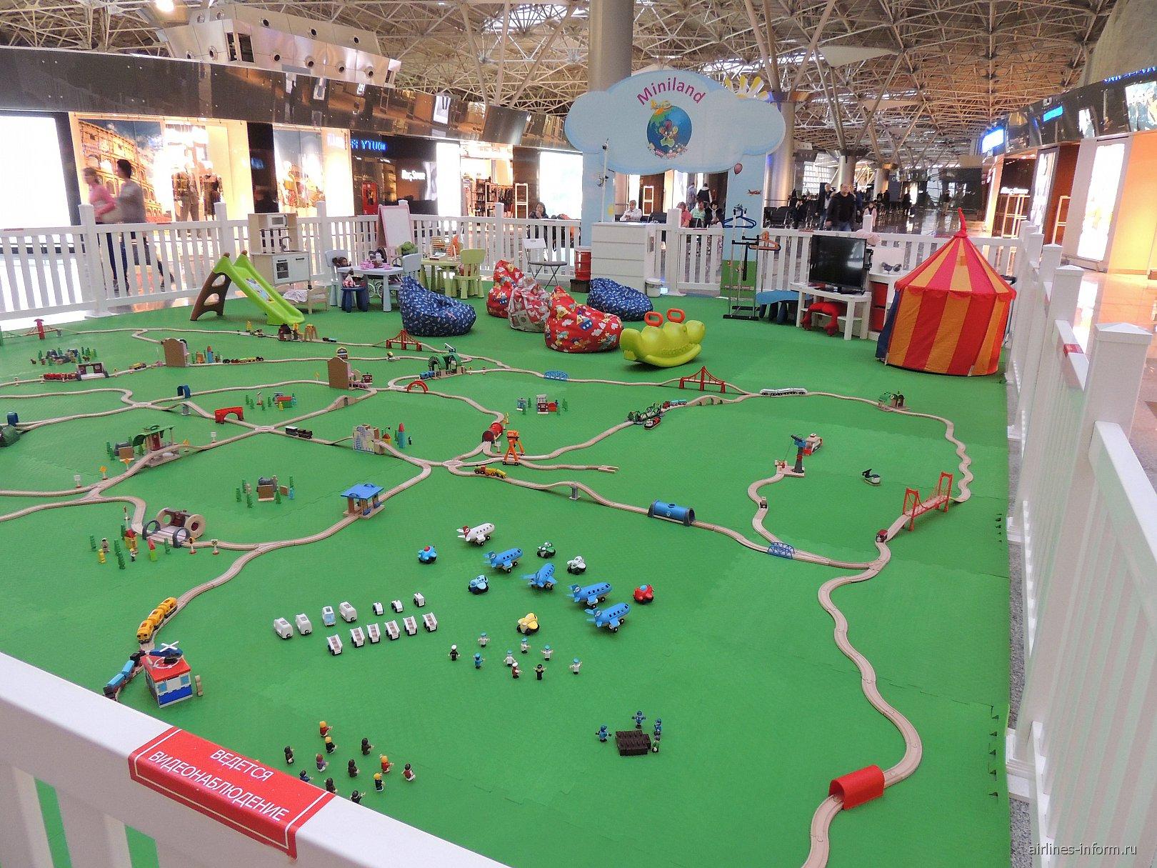 Детская игровая площадка в зоне международных вылетов Терминала А аэропорта Внуково