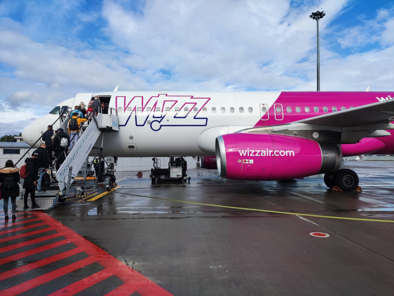 WizzAir A320. Киев-Жуляны - Братислава-Иванка.