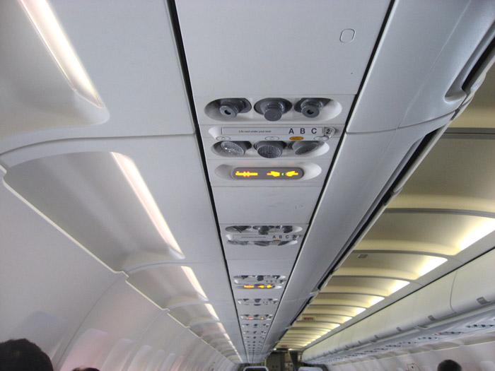 Салон самолета Airbus A319 авиакомпании Germanwings