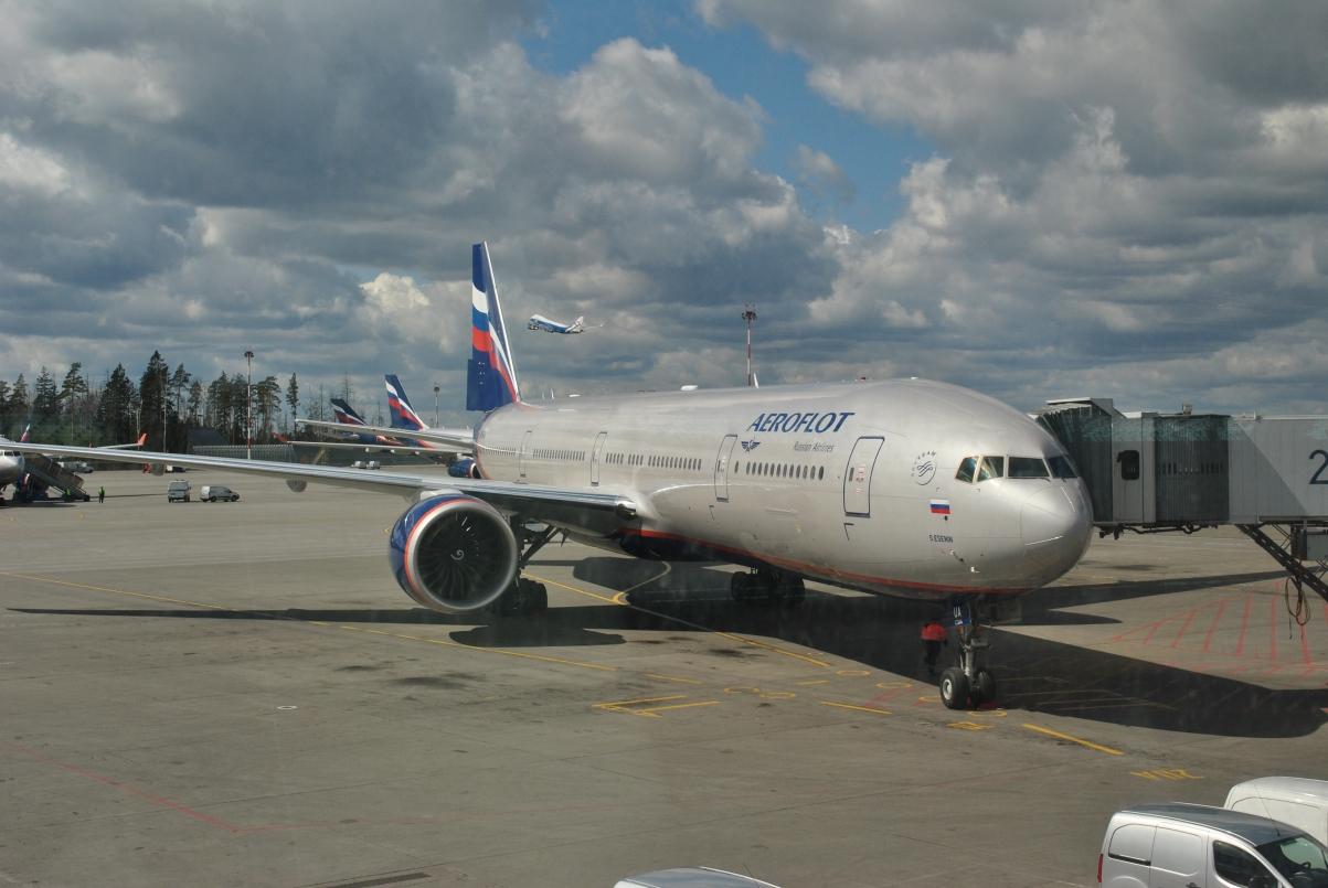 Boeing 777-300ER VQ-BUA Аэрофлота в аэропорту Шереметьево