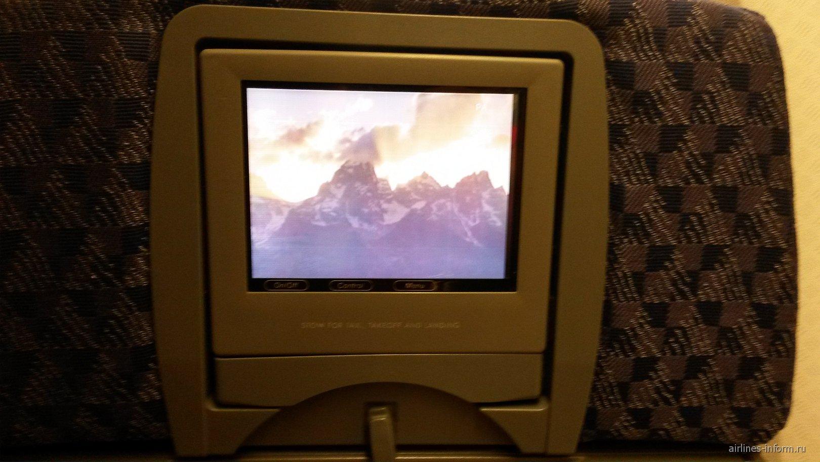 Система развлечений самолета Боинг-777-200 авиакомпании American Airlines
