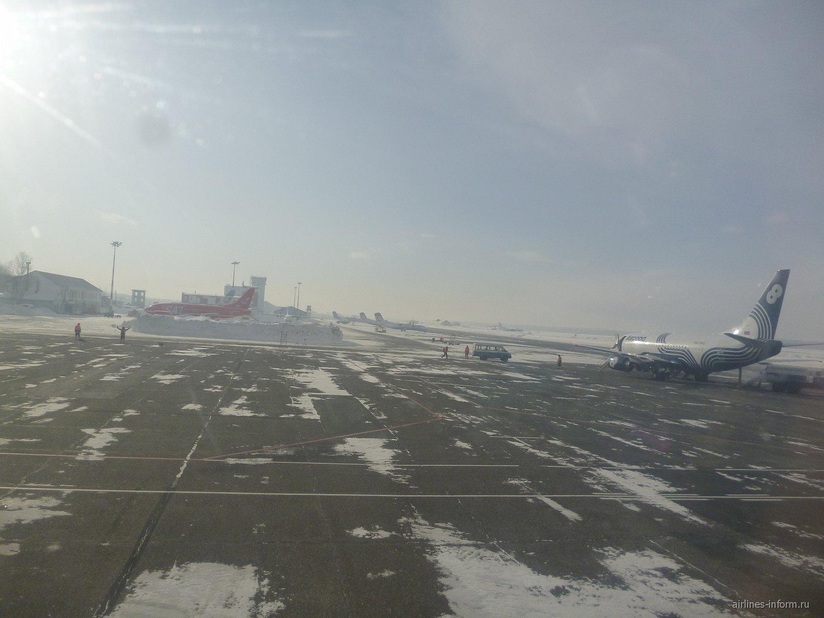 В аэропорту Южно-Сахалинска