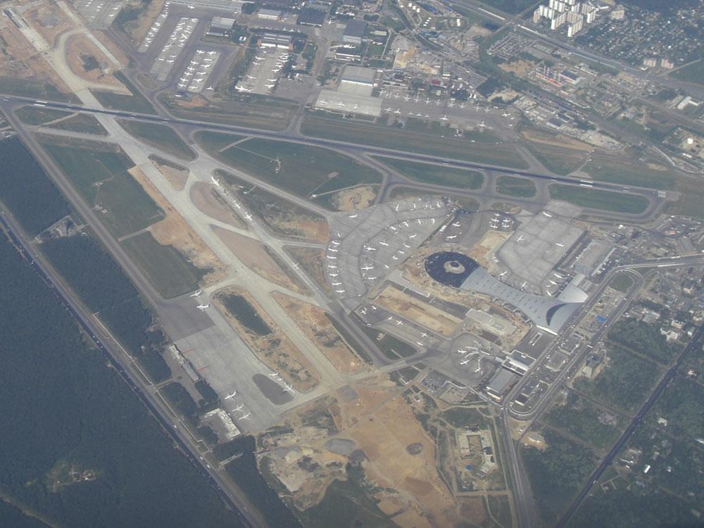 Вид на аэропорт Внуково сверху