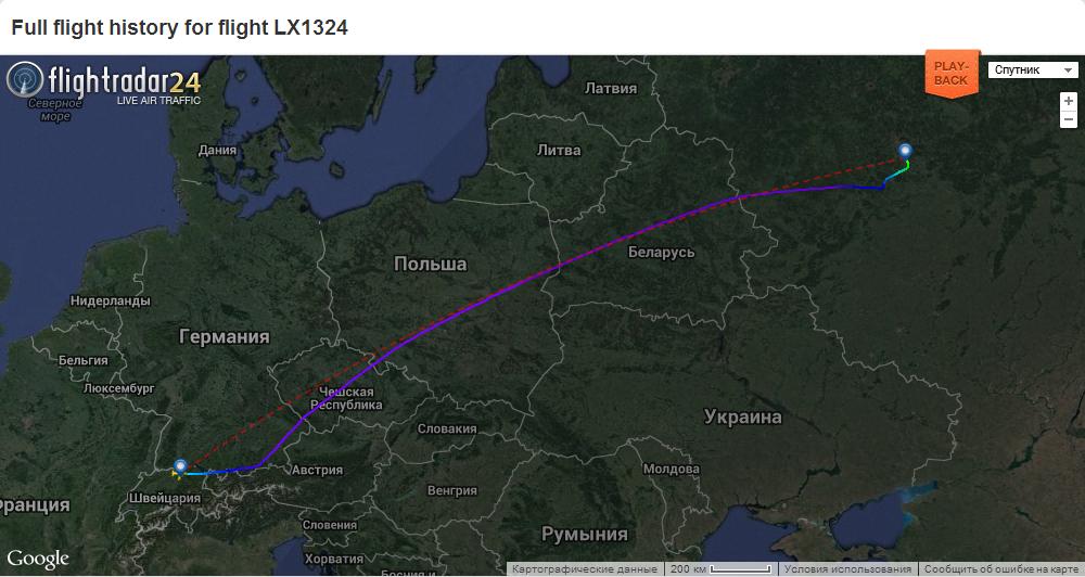 Карта полета
