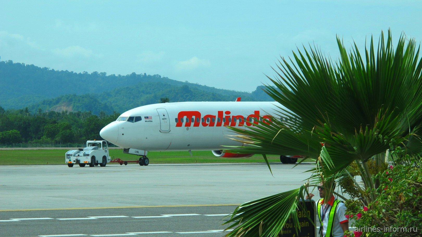 Боинг-737-900 авиакомпании Malindo Air в аэропорту Лангкави