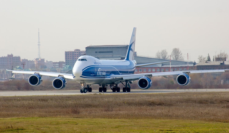 9.10.18 визит Boeing 747-800F AirBridgeCargo в Иркутск.