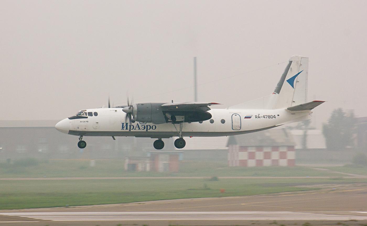 Самолет Ан-24 RA-47804 авиакомпании ИрАэро