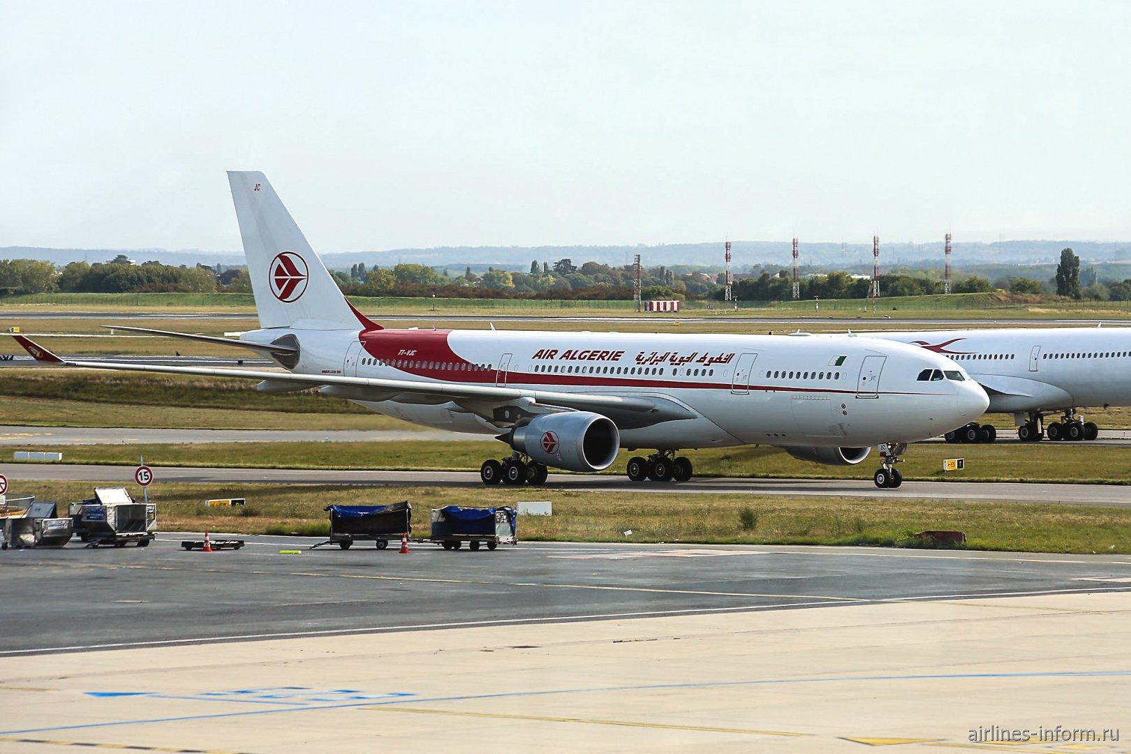 Самолет Airbus A330-200 авиакомпании Air Algerie в аэропорту Париж Шарль-де-Голль