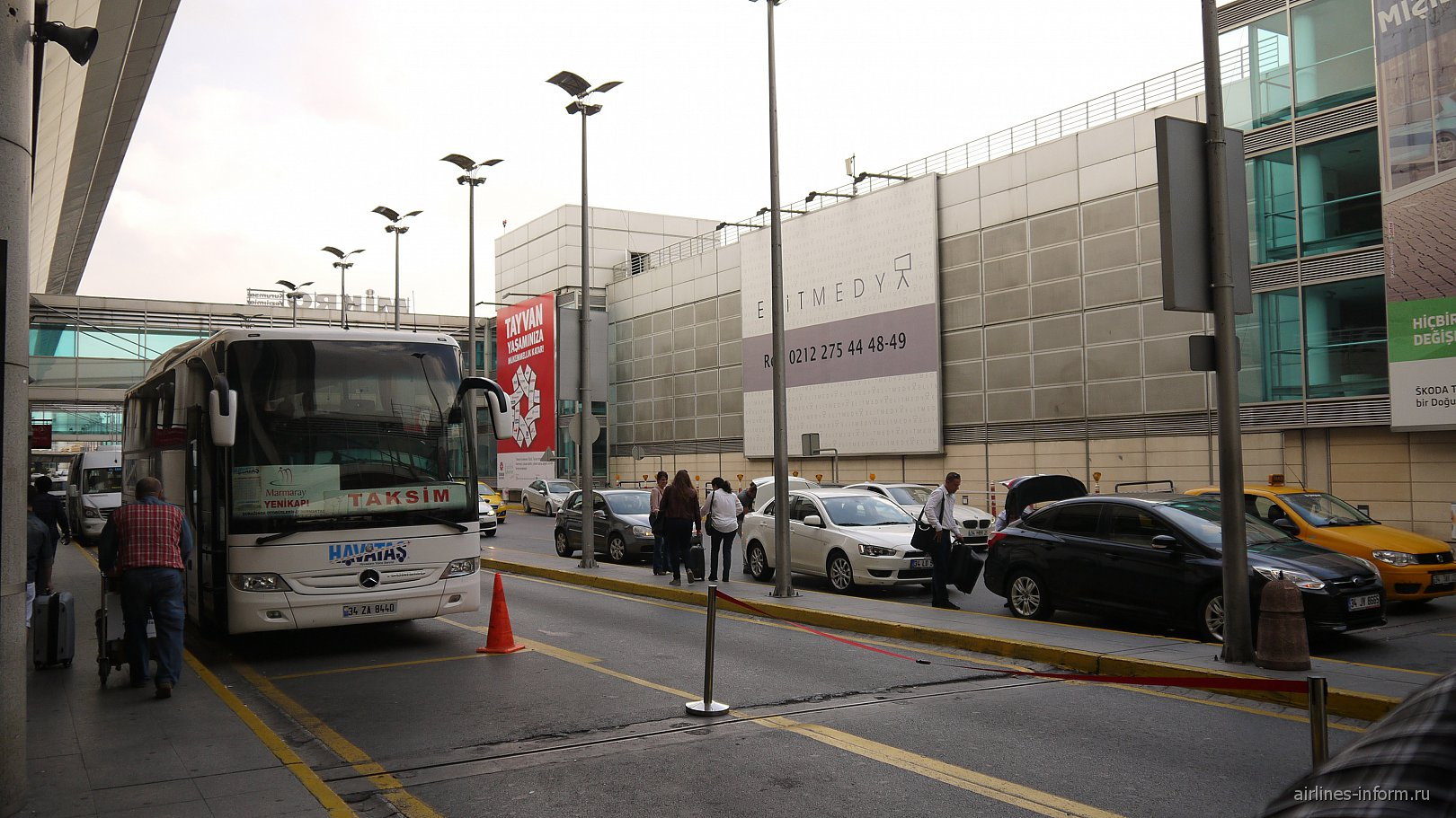 Автобус из аэропорта имени Ататюрка в центр Стамбула