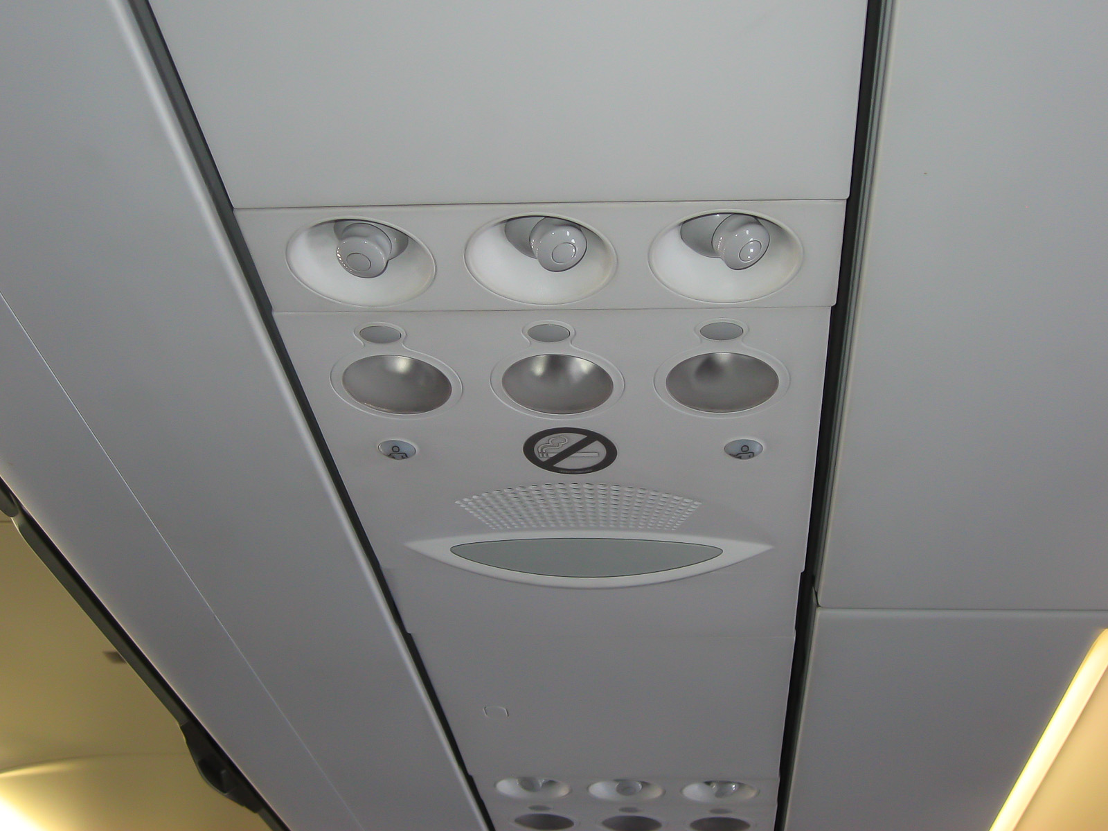 Passenger cabin of an Airbus A319 Bulgaria Air