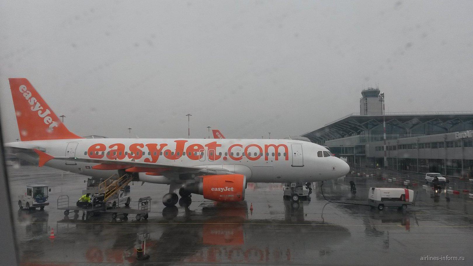 Airbus A319 easyJet в аэропорту Базель
