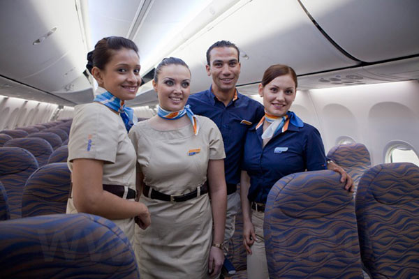 Flight attendents of the airline Flydubai