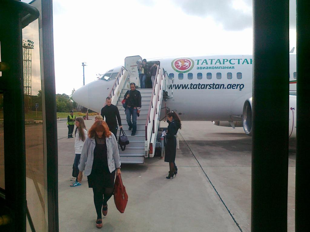 Рейс Москва-Казань авиакомпании Татарстан