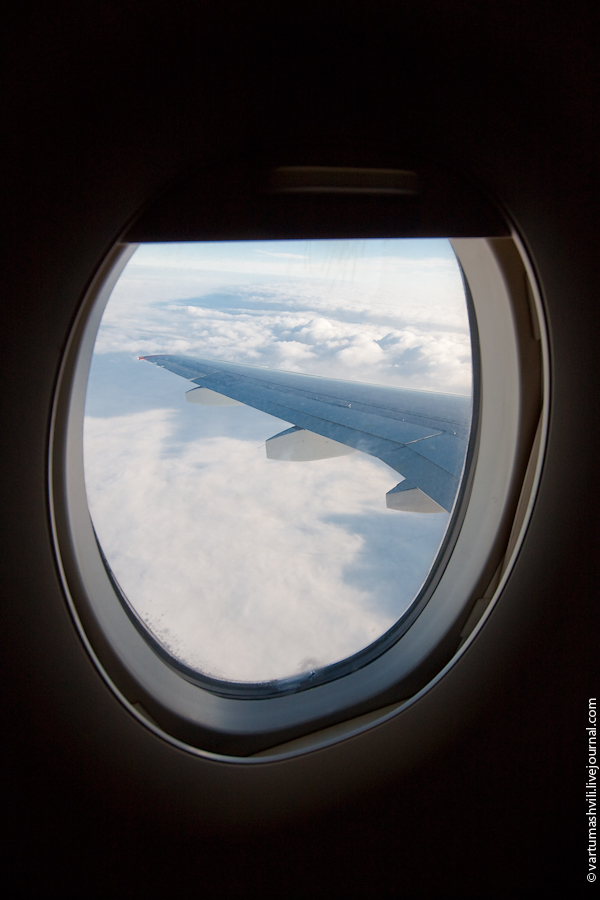 Window of Sukhoi Superjet 100
