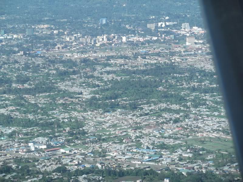 Вид на город Аруша