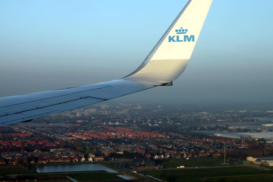 Посадка в Амстердаме рейса КЛМ