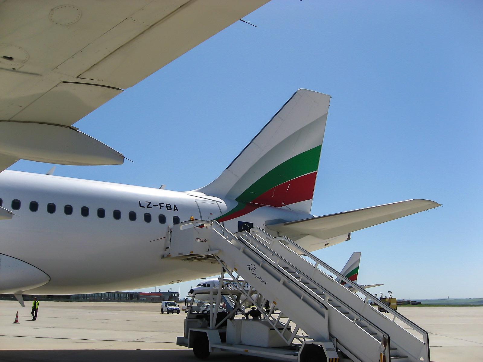 Посадка на рейс Бургас-Москва авиакомпании Bulgaria Air