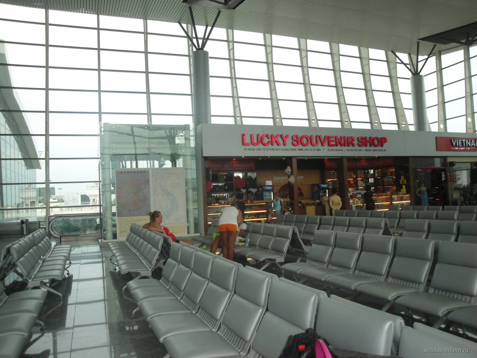 Зал ожидания в аэропорту Дананг