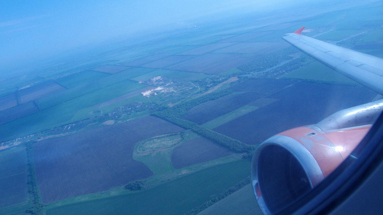 Взлет Airbus A321 авиакомпании Донбассаэро