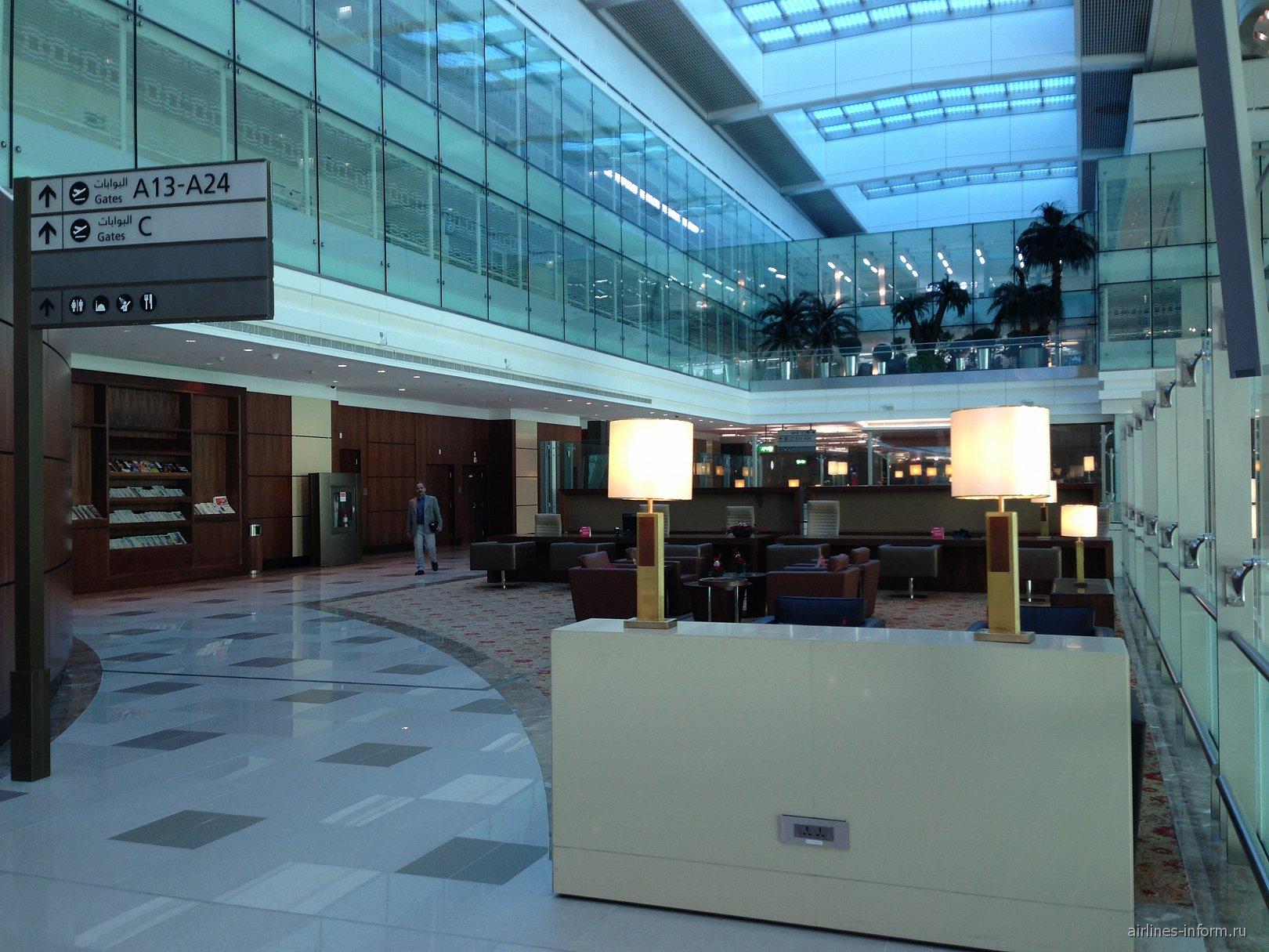 Бизнес-зал авиакомпании Emirates в аэропорту Дубай