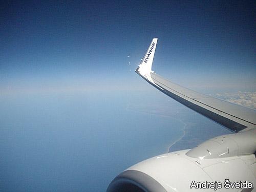 В полете на самолете Ryanair