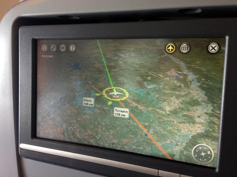 Онлайн карта полета в самолете Боинг-777-300 Аэрофлота