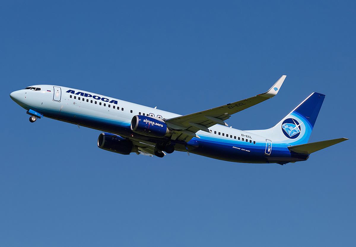 Мирный (MJZ) - Москва (DME). Алроса. Boeing 737-800