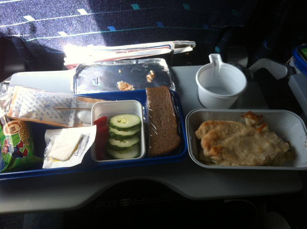 Питание на рейсе Уфа-Анталья Уральских авиалиний