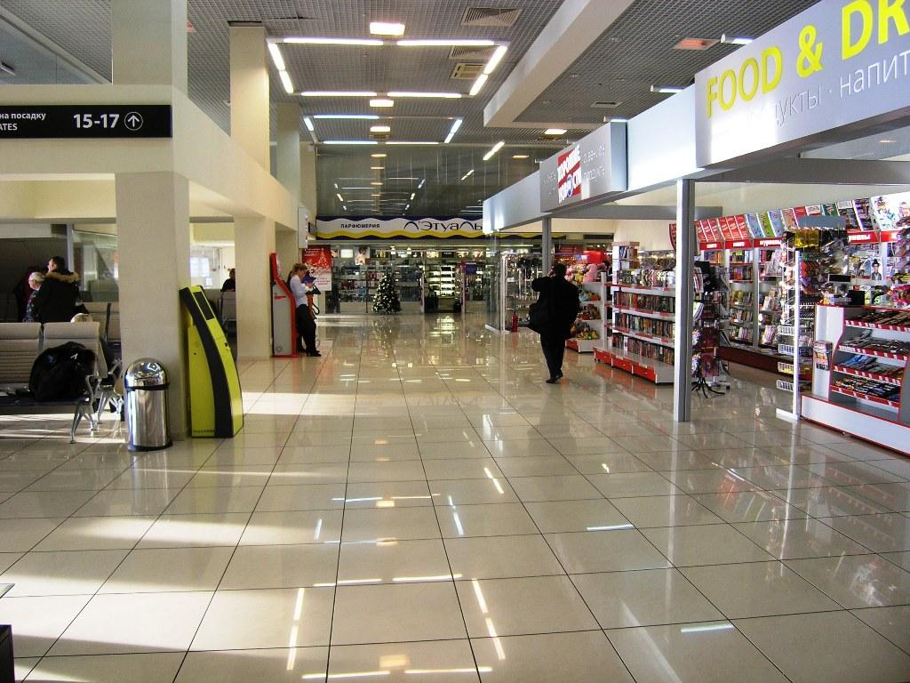 Галерея магазином в стерильной зоне аэропорта Екатеринбург Кольцово