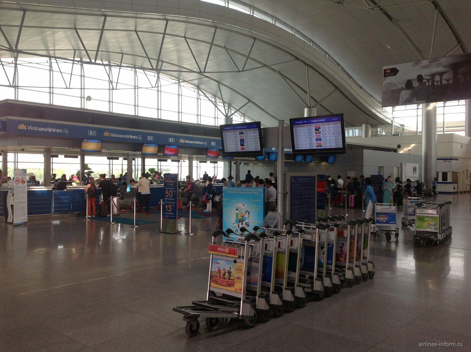 Стойки регистрации Вьетнамских авиалиний в аэропорту Хошимин Тан Сон Нхат