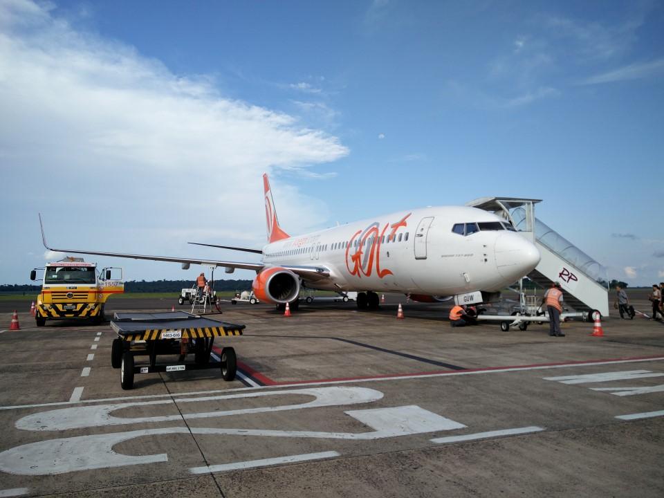 Боинг-737-800 авиакомпании GOL в аэропорту Фос-ду-Игуасу