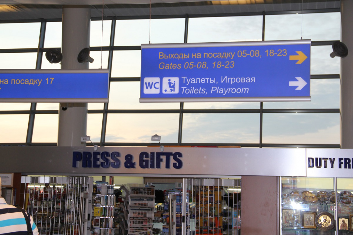 At the Moscow Sheremetyevo airport