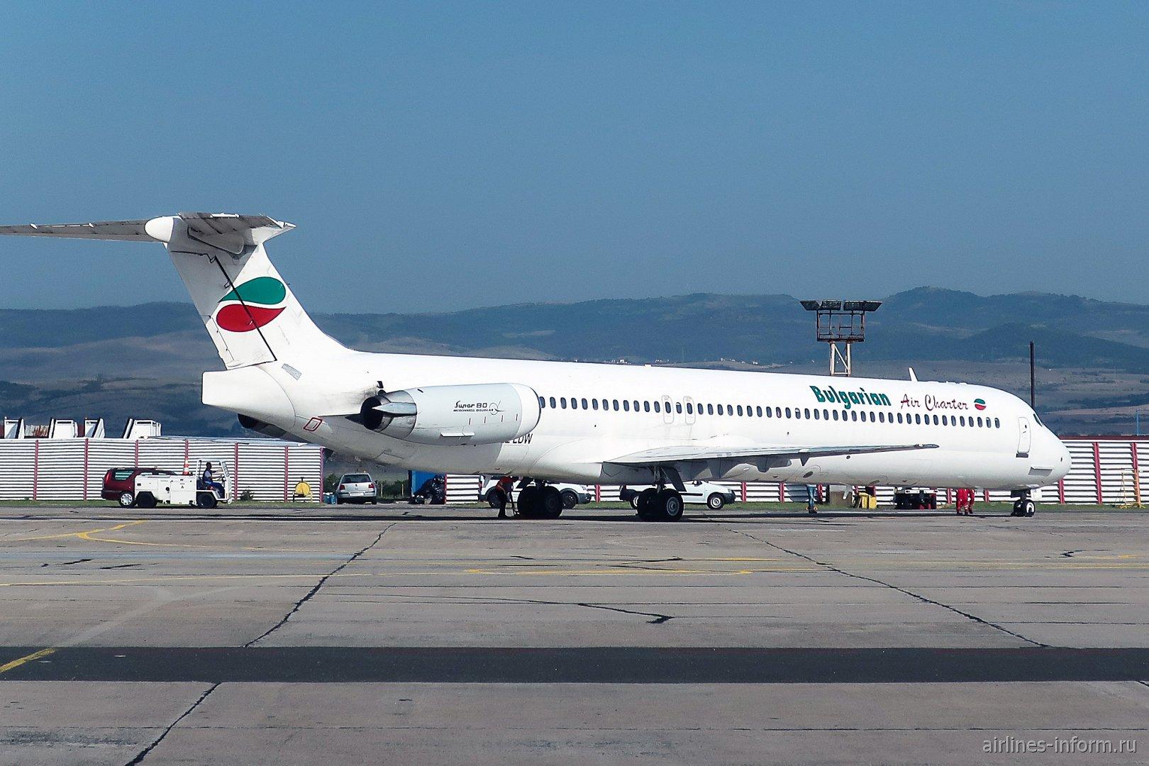 Авиалайнер MD-80 авиакомпании Bulgarian Air Charter