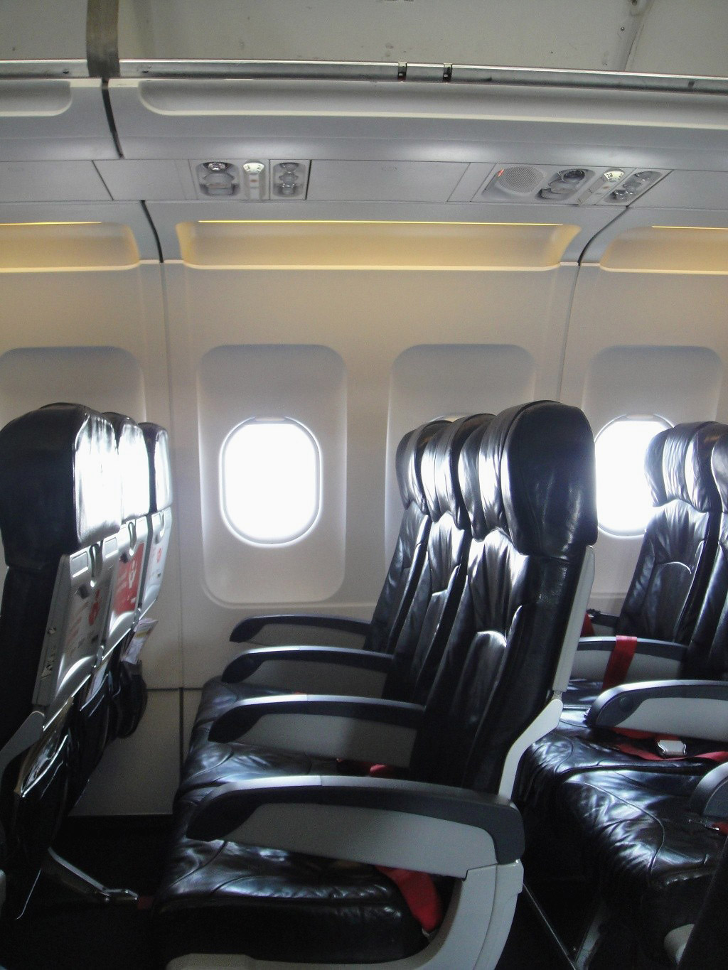 Passenger cabin in AirAsia Airbus A320