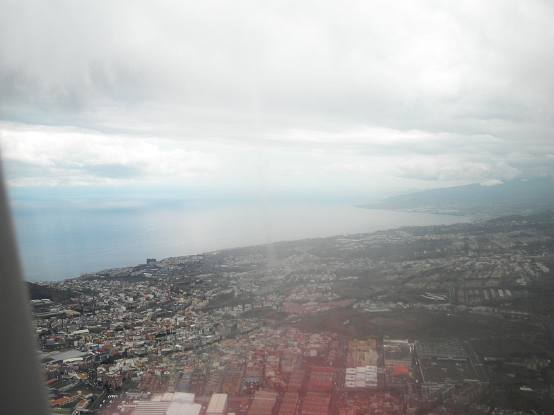 Посадка в Тенерифе