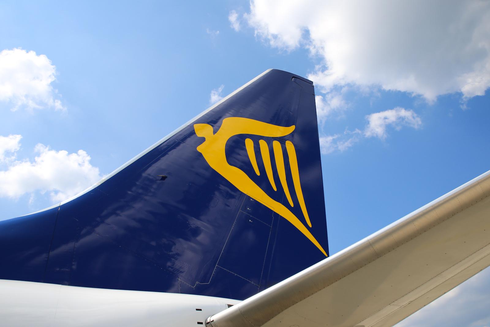 Киль самолета авиакомпании Ryanair