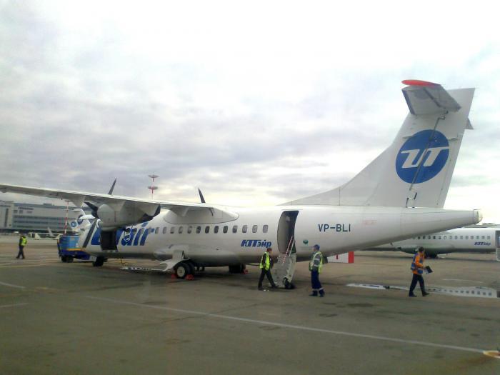 Самолет ATR 42 авиакомпании ЮТэйр