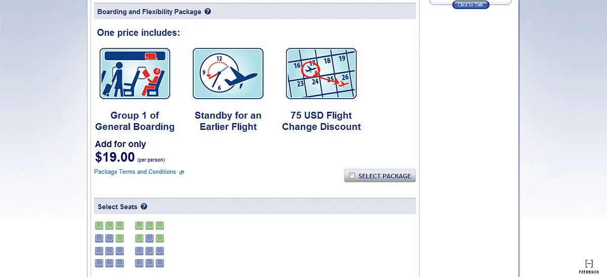Tickets for American Eagle flights