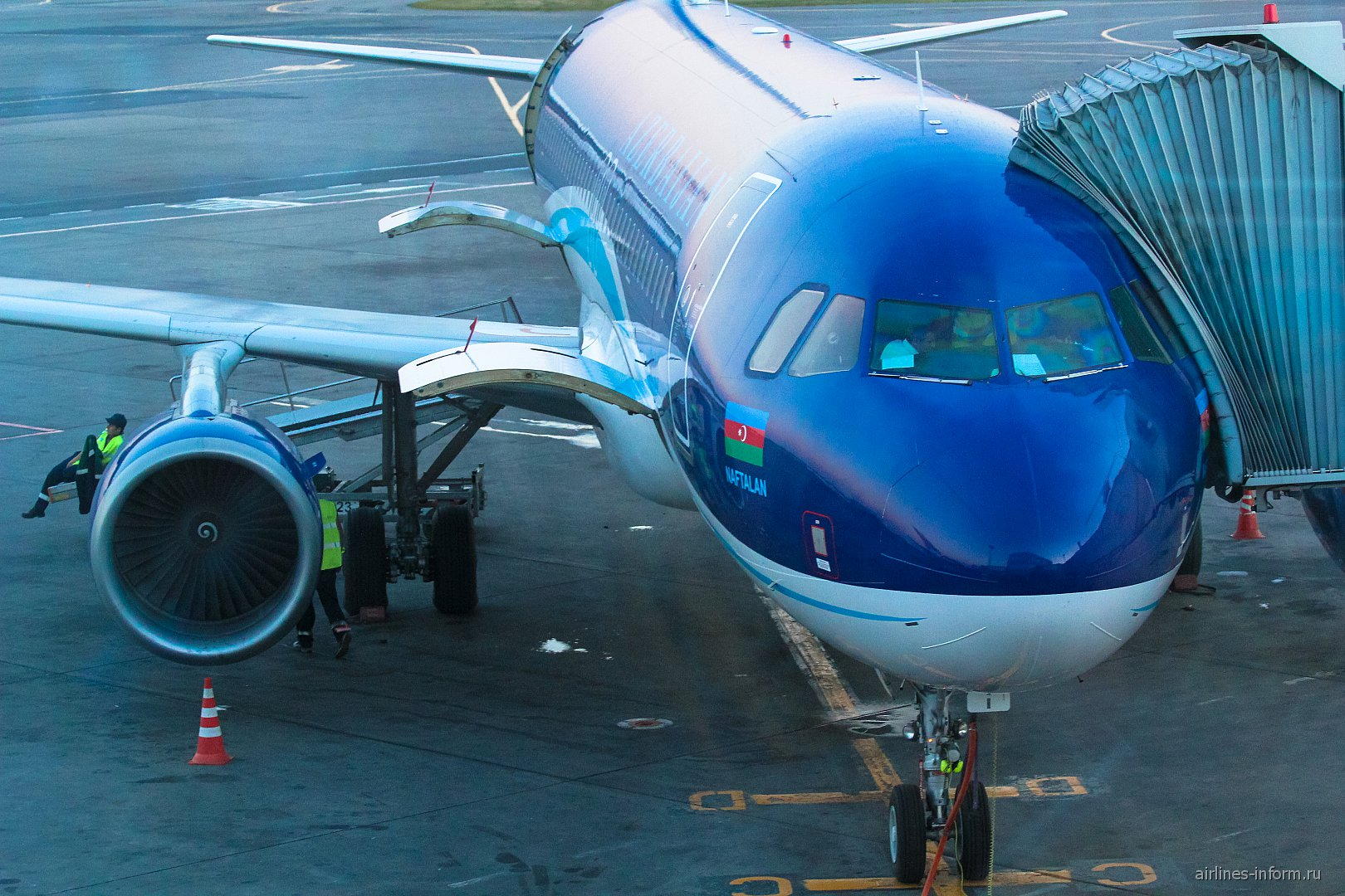 Airbus A320 Азербайджанских авиалиний в аэропорту Домодедово