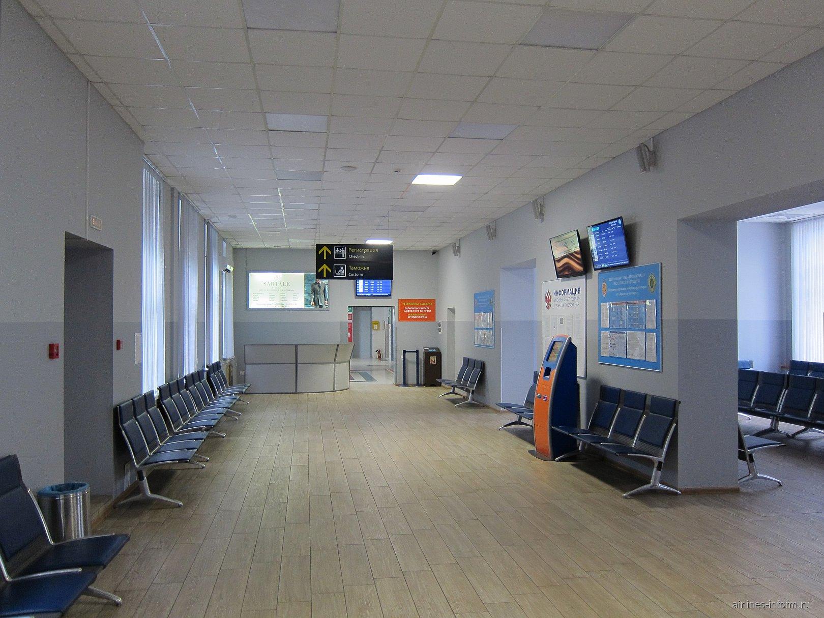 В терминале международных рейсов аэропорта Краснодар Пашковский